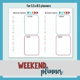 Weekend Planner (small 5.5 x 8.5 size)