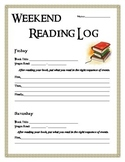 Reading Log Packet - Practicing Reading Comprehension Skills