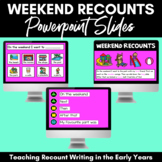 Weekend Recount Slides for POWERPOINT (Distance Learning)