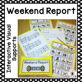 Weekend Report using Interactive Visual Supports