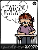 Weekend Review Writing Prompt FREEBIE