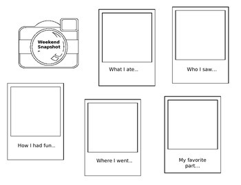 Weekend Snapshots Writing Activity