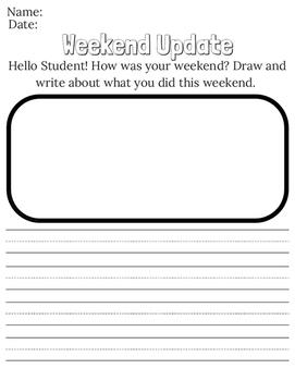Weekend Update Worksheet