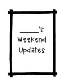 Weekend Updates
