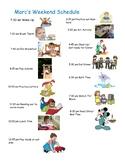 Weekend Visual Schedule