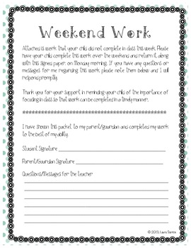 Weekend Work - Behavior and Work Habits Management