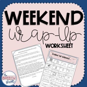 Weekend Wrap-Up Worksheet