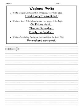 Weekend Write