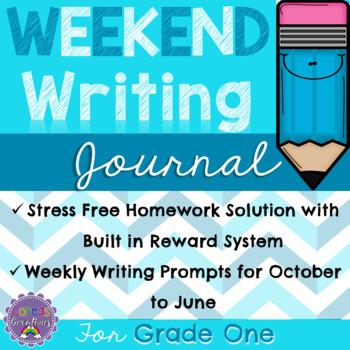 Weekend Writing Journal: Homework Solution for Grade One