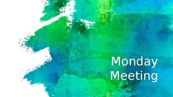 Monday Meeting: Weekend Writing