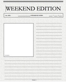 Weekend Writing/ Weekend News Template (front page)