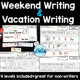 Weekend Writing for Students with autism
