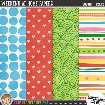 Weekend at Home Digital Papers