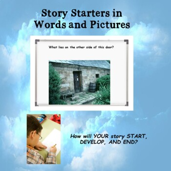 Weekly visual and verbal story starters