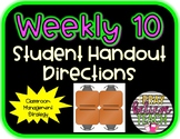 Weekly 10 Table Group Points Student Directions Handout