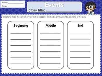 Weekly 2nd Grade Graphic Organizers (Unit 1, Week 2)