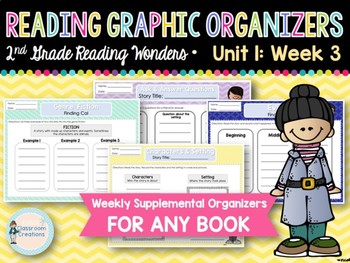 Weekly 2nd Grade Reading Graphic Organizers (Unit 1, Week 3)