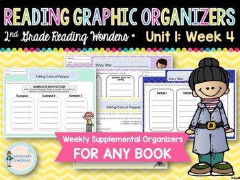 Weekly 2nd Grade Reading Graphic Organizers (Unit 1, Week 4)