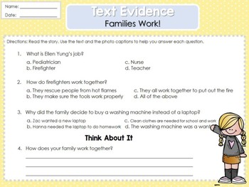 Weekly 2nd Grade Reading Graphic Organizers (Unit 1, Week 5)