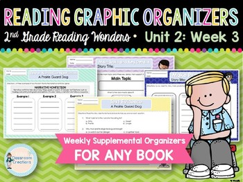 Weekly 2nd Grade Reading Graphic Organizers (Unit 2, Week 3)