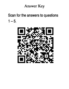 Weekly 5 -  Math Review with QR Code Answer Key - Set 2