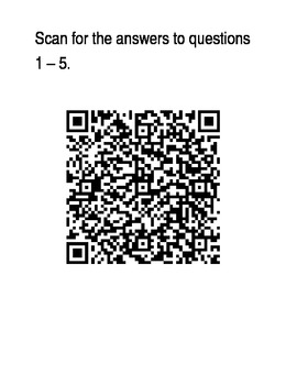 Weekly 5 Math Review with QR Code Answer key - Set 1