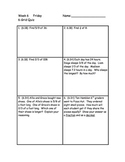Weekly 6-grid Math Review Packets for 6th grade - weeks 6-10