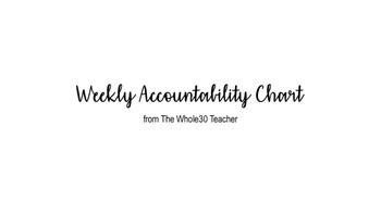 Weekly Accountability Chart for Middle School