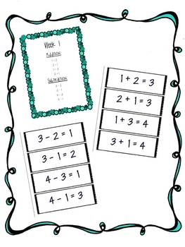 Weekly Addition and Subtraction Facts