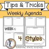 Printable Weekly Agenda Bullet Journal Style