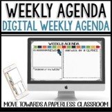 Weekly Agenda Newsletter (USE WITH GOOGLE SLIDES - editabl