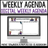Weekly Agenda Newsletter (USE WITH GOOGLE SLIDES - editable) Rock and Roll