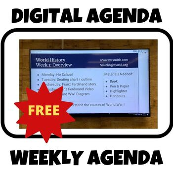 Weekly Agenda PPT - Digital download for LCD/Television