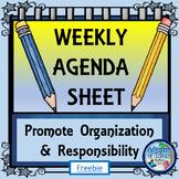 Weekly Agenda Printable Sheet
