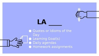 Weekly Agenda Template for Teachers