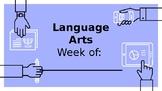 Weekly Agenda Template for Teachers
