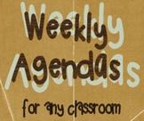 Weekly Agenda Template
