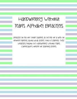 Weekly Alphabet Bracelets