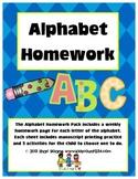 Weekly Alphabet Homework