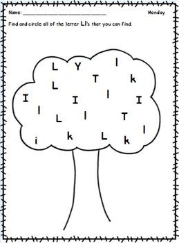 Weekly Alphabet Homework Pack A-Z No Prep!