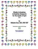 Weekly Articulation Homework for April /r/