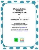 Weekly Articulation Homework for June /r/