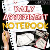 Weekly Assignment Notebook {Classroom Management}