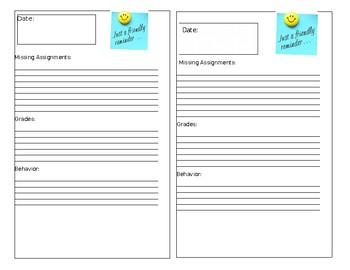 Weekly Assignments Grades Behavior Report