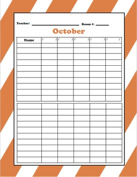 Weekly Attendance Sheets (12 months included)