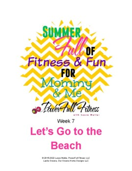 Weekly BEACH Theme Lesson Plan for Homeschool, Preschool, PreK, Kindergarten