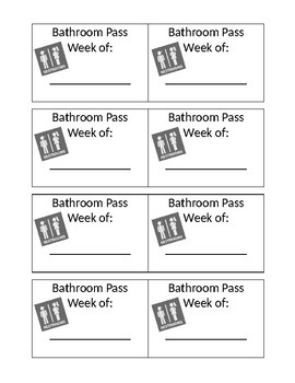 Weekly Bathroom Passes