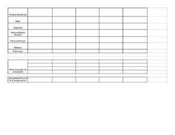 Weekly Behavior Calendar template