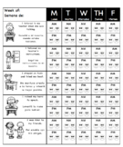 Weekly Behavior Chart(English and Spanish)