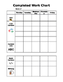 Weekly Behavior Chart - Editable